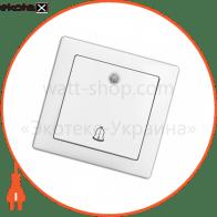 вимикач WEGA 9126 дзвоник з підсвічуванням білий