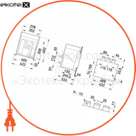 повітряний автоматичний вимикач e.acb.3200d.2500, викатний, 0,4кв, 3р, стандартний електронний розчіплювач, мотор-привід та незалежний розчіплювач ас220в
