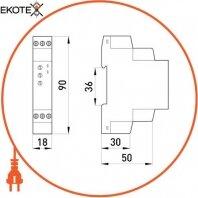 Enext p0690004 реле времени многофункциональное e.control.t06