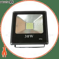 LED Прожектор 30W 5000К чёрний