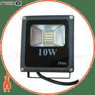 Прожектор LED_Alfa_10W_5000К_чорний (08723)