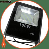 LED Прожектор 100W 5000К чёрний