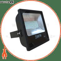 LED Прожектор 200W 6500К чёрний