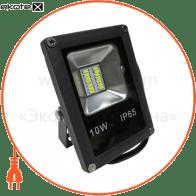 LED Прожектор 10W 4000К чёрный