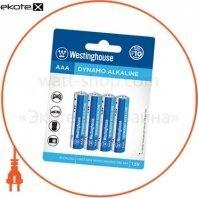 Щелочная батарейка Westinghouse Dynamo Alkaline AAА/LR03 4шт/уп blister