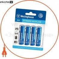 Щелочная батарейка Westinghouse Dynamo Alkaline AA/LR6 4шт/уп blister