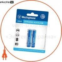 Щелочная батарейка Westinghouse Dynamo Alkaline AAA/LR03 2шт/уп blister