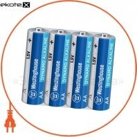 Щелочная батарейка Westinghouse Dynamo Alkaline AA/LR6  4шт/уп shrink