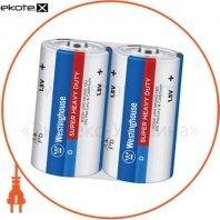 Солевая батарейка Westinghouse Super Heavy Duty D/R20 2шт/уп shrink