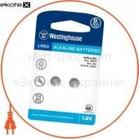 """Щелочная батарейка Westinghouse Alkaline """"таблетка"""" LR60 2шт/уп blister"""
