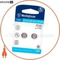 """Щелочная батарейка Westinghouse Alkaline """"таблетка"""" LR66 2шт/уп blister"""