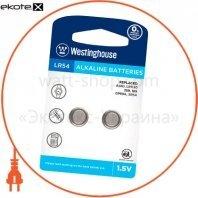 """Щелочная батарейка Westinghouse Alkaline """"таблетка"""" LR54 2шт/уп blister"""