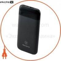 Мобильный (литий-полимер) аккумулятор 10 000mAh 3.7V c 2 портами  усиленной зарядки до 3A через порты Mikro USB и Type-C