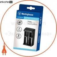 Westinghouse WBC-006-CB интелектуальное зарядное устройство (usb) для 1-2 -х литий-ионных аккумуляторов  3.7v разных типов