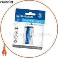 Литиевая батарейка (Крона) Westinghouse Lithium  CR9V 1шт/уп blister