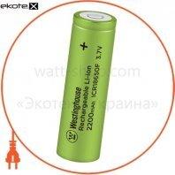 Аккумулятор литий-ионный Westinghouse Li-ion ICR18650, 3,7V, 2200mAh, 1шт