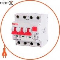 Выключатель дифференциального тока с защитой от сверхтоков e.rcbo.pro.4.C25.100, 3P+N, 25А, С, тип А, 100мА