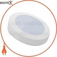 Светильник накладной Sokol круглый LED-PANEL 12w aluminium 960Lm 4100K IP20