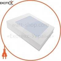 Светильник накладной Sokol квадратный LED-PANEL 12w aluminium 960Lm 4100K IP20