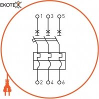 Enext i0660004 силовой автоматический выключатель e.industrial.ukm.250sl.250, 3р, 250а