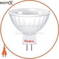 Светодиодная LED лампа MR16 5w 220В 18 SMD G5.3 4100К Sokol