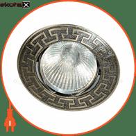 Встраиваемый светильник Feron 1008DL MR-11 черный металлик золото 17803