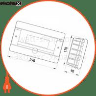 корпус пластиковий 12-модульний e.plbox.stand.w.12, що вбудовується корпуса пластиковые модульные Enext CBA912