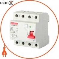 Выключатель дифференциального тока e.rccb.pro.A.4.40.30, 4р, 40А, 30мА, тип А