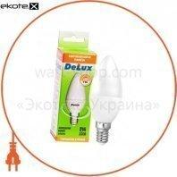 лампа светодиодная DELUX BL37B 7 Вт 6500K 220В E14 холодный белый