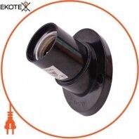 Патрон бакелитовый e.lamp socket wall skew side.E27.bk.black, настенный, Е27, смещенный, черный
