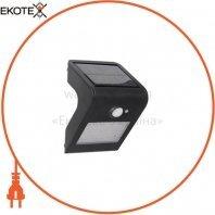 Светильник на солн.батареи LED 1W 4000K 140Lm с сенсором настенный черный