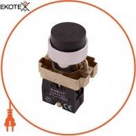 Кнопка без подсветки выпуклая e.mb.bl21 черная, без фиксации, 1NO