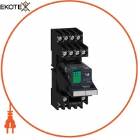 Miniature plug-in relay pre-assembled, 6 A, 4 CO, lockable test button, mixed terminal socket, 24 V DC