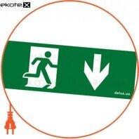 Информационная наклейка на светильник 119х323мм Exit_Down (REL803)
