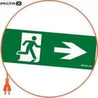 Информационная наклейка на светильник 119х323мм Exit_Right (REL803)