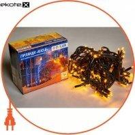 Гирлянда внешняя DELUX ICICLE 108 LED бахрома 2x1m 27 flash желтый/черный IP44 ENГірлянда зовнішня DELUX є icicle 108 LED бахрома 2x1m 27 flash жовтий/чорний IP44 EN