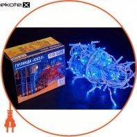 Гирлянда внешняя DELUX ICICLE 108 LED бахрома 2x1m 27 flash синий/белый IP44 ENГірлянда зовнішня DELUX є icicle 108 LED бахрома 2x1m 27 flash синій/білий IP44 EN