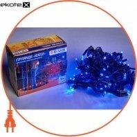 Гирлянда внешняя DELUX ICICLE 108 LED бахрома 2x1m 27 flash синий/черный IP44 ENГірлянда зовнішня DELUX є icicle 108 LED бахрома 2x1m 27 flash синій/чорний IP44 EN