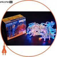 Гирлянда внешняя DELUX ICICLE 108 LED бахрома 2x1m 27 flash мульти/белый IP44 ENГірлянда зовнішня DELUX є icicle 108 LED бахрома 2x1m 27 flash мульти/білий IP44 EN