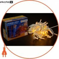 Гирлянда внешняя DELUX ICICLE 75 LED бахрома 2x0,7m 18 flash желтый/белый IP44 ENГірлянда зовнішня DELUX є icicle 75 LED бахрома 2x0,7m 18 flash жовтий/білий IP44 EN