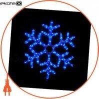 Гирлянда внешняя DELUX MOTIF Snowflake 0,55 м 12 flash синий IP 44 ENГірлянда зовнішня DELUX MOTIF Криву 0,55 м 12 flash синій IP 44 EN
