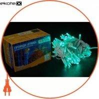 Гірлянда зовнішня DELUX STRING 100 LED нитка 10m (2x5m) 20 flash зелений/білий IP44 EN