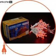 Гірлянда зовнішня DELUX STRING 100 LED нитка 10m (2x5m) 20 flash червоний/білий IP44 EN