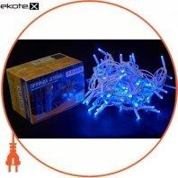 Гирлянда внешняя DELUX STRING 100 LED нить 10m (2x5m) 20 flash синий/белый IP44 ENГірлянда зовнішня DELUX STRING 100 LED нитка 10m (2x5m) 20 flash синій/білий IP44 EN