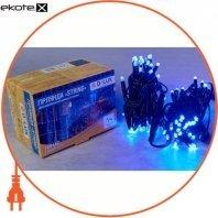 Гірлянда зовнішня DELUX STRING 100 LED нитка 10m (2x5m) 20 flash синій/чорний IP44 EN