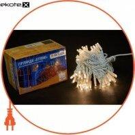 Гірлянда зовнішня DELUX STRING 100 LED нитка 10m (2x5m) 20 flash теплий білий/білий IP44 EN