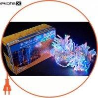 Гирлянда внешний DELUX STRING 200 LED нить 20m (2x10m) 40 flash мульти/белый IP44 ENГірлянда зовнішній DELUX STRING 200 LED нитка 20m (2x10m) 40 flash мульти/білий IP44 EN