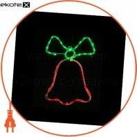 Гирлянда светодиодная DELUX MOTIF Bell 0,5*0,35 м 3 flash красный/зеленый IP 44 ENСвітлодіодна гірлянда DELUX MOTIF Bell 0,5*0,35 м 3 flash червоний/зелений IP 44 EN
