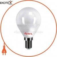 Светодиодная LED лампа G45 5w 220В E14 3000К Sokol