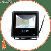LED Прожектор 20W 5000К чёрный